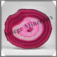 AGATE ROSE - Tranche Fine - 130x150 mm - 273 grammes - Taille 6 - C003