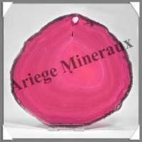 AGATE ROSE - Tranche Fine - 135x125 mm - 163 grammes - Taille 6 - C005