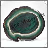 AGATE VERTE - Tranche Fine - 115x140 mm - 208 grammes - Taille 6 - C013